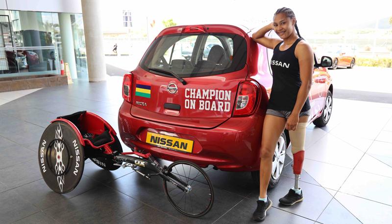 ABC Motors met une Nissan Micra à la disposition de Noemi Alphonse