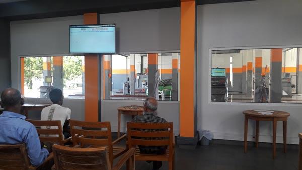 SGS Vehicle Examination Center, Waiting Lounge